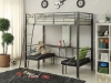 metal bunk bed with desk Inspirational Acme harkem gunmetal black metal loft bed adjustable seat desk